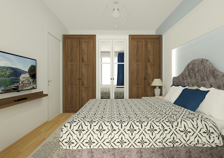 PRATIKIZ MIMARLIK/ ARCHITECTURE – Ebeveyn Yatak Odası: modern tarz , Modern