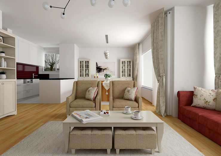 PRATIKIZ MIMARLIK/ ARCHITECTURE – Salon: modern tarz , Modern