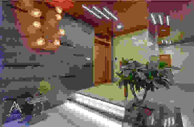 Entrance Foyer Archemist Architects Bungalows Slate Grey