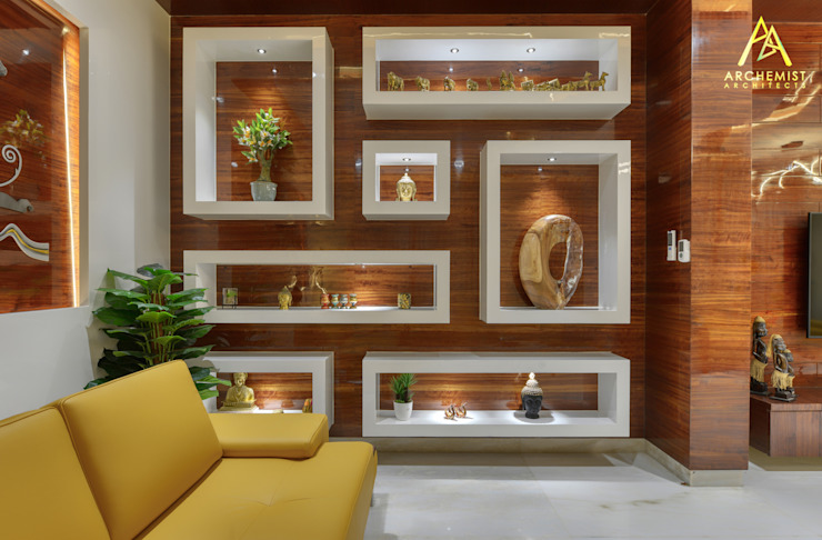 281 Residence Modern living room by Archemist Architects Modern Plywood