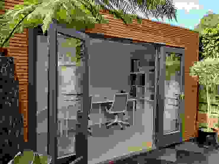 Linea garden office Garden Affairs Ltd Garasi Modern Kayu Wood effect