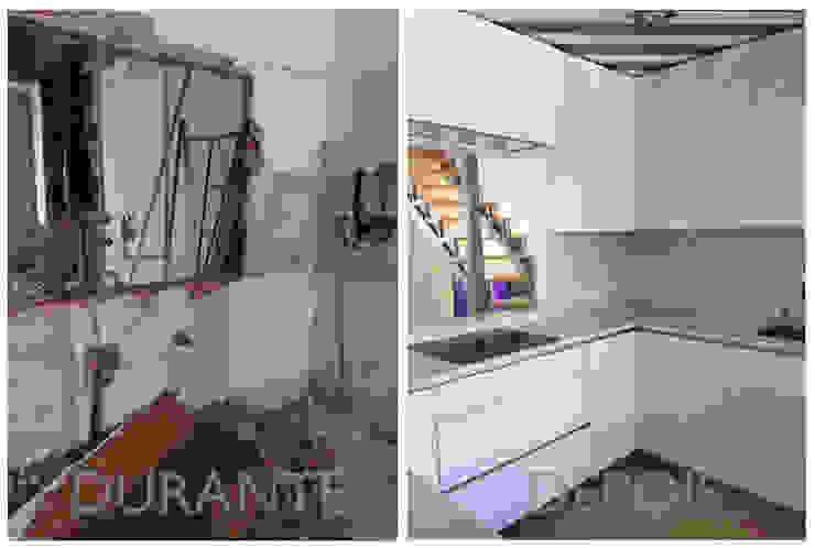 Remodelação em apartamento familiar por Margarida Bugarim Interiores Moderno
