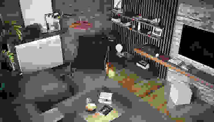1071 M.A. Evi Salon Modern Oturma Odası Entrada Mimarlık Modern