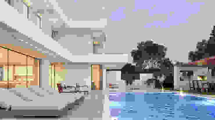 CASA I&J - Moradia em Oeiras - Projeto de Arquitetura por Traçado Regulador. Lda Moderno Pedra