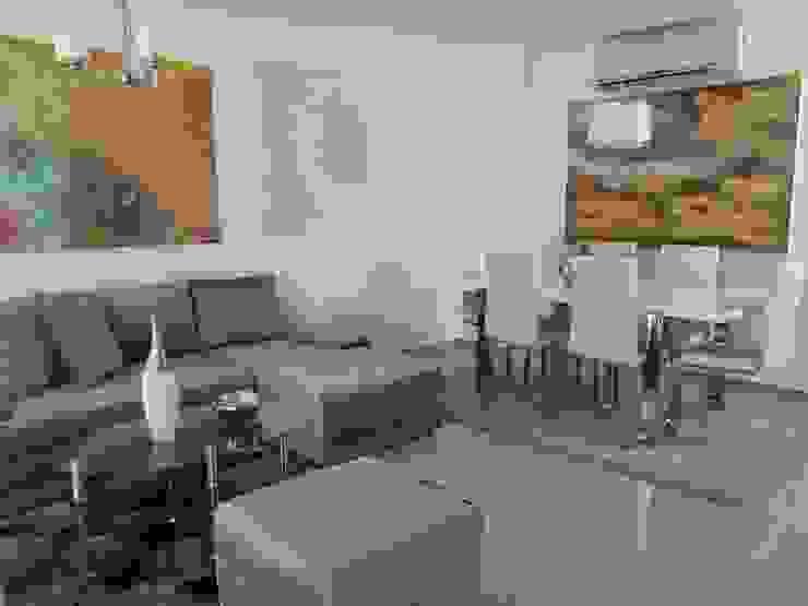 Interior apartamento tipo Salas modernas de Oleb Arquitectura & Interiorismo Moderno