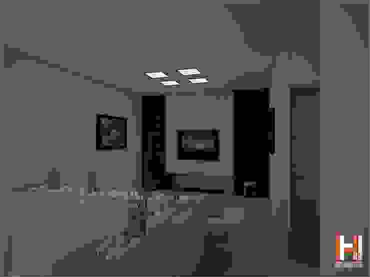 SALA DE TELEVISION Salas multimedia modernas de HHRG ARQUITECTOS Moderno