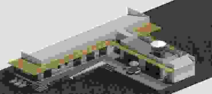 Fachada Norte y Oriente Casas de estilo mediterráneo de Casas del Girasol- arquitecto Viña del mar Valparaiso Santiago Mediterráneo