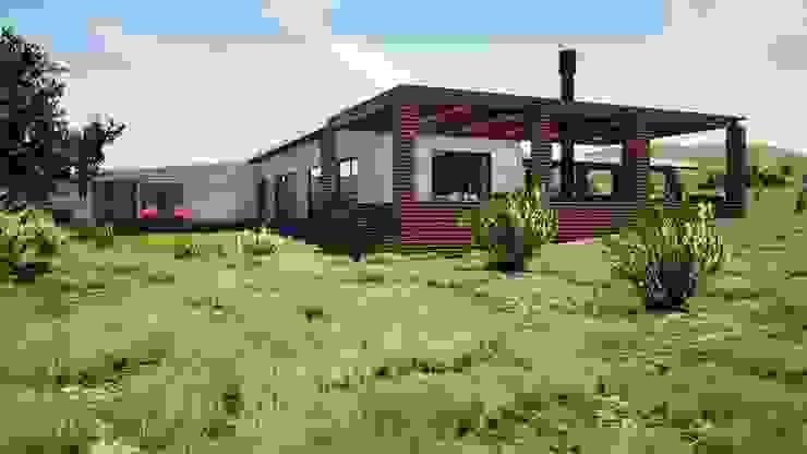 Casa entretenida Casas de estilo mediterráneo de Casas del Girasol- arquitecto Viña del mar Valparaiso Santiago Mediterráneo
