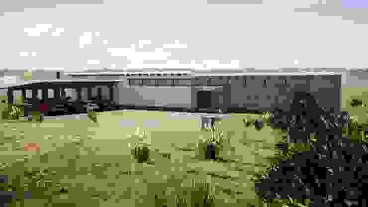 CASA SOBRE CERRO, EN QUILLOTA Casas de estilo mediterráneo de Casas del Girasol- arquitecto Viña del mar Valparaiso Santiago Mediterráneo