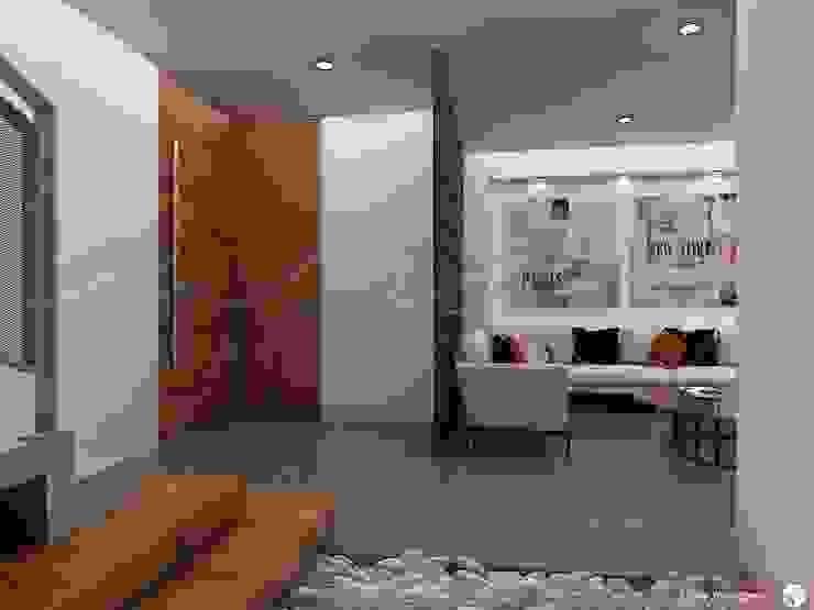 Casa Hércules Pasillos, vestíbulos y escaleras modernos de GARAY ARQUITECTOS Moderno