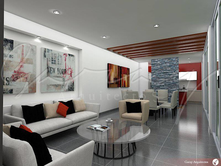 Casa Hércules Salones modernos de GARAY ARQUITECTOS Moderno