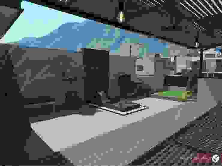 Modern balcony, veranda & terrace by GARAY ARQUITECTOS Modern