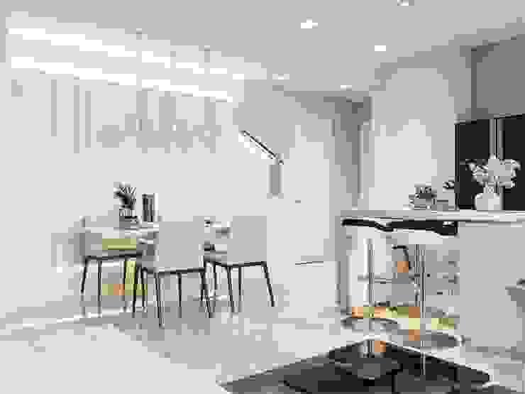 Thiết kế nội thất hiện đại của một URBANISTA thực thụ! Phòng ăn phong cách hiện đại bởi ICON INTERIOR Hiện đại