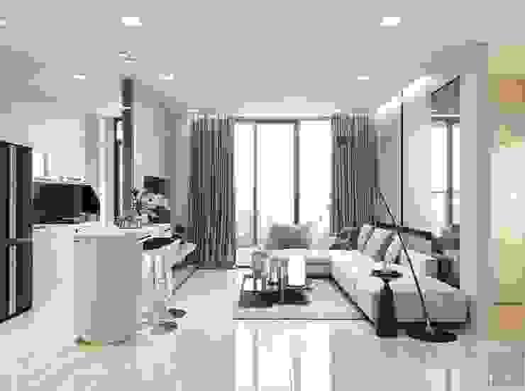 Thiết kế nội thất hiện đại của một URBANISTA thực thụ! bởi ICON INTERIOR Hiện đại