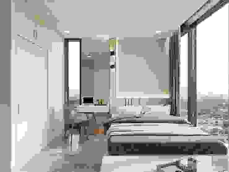 Thiết kế nội thất hiện đại của một URBANISTA thực thụ! Phòng ngủ phong cách hiện đại bởi ICON INTERIOR Hiện đại