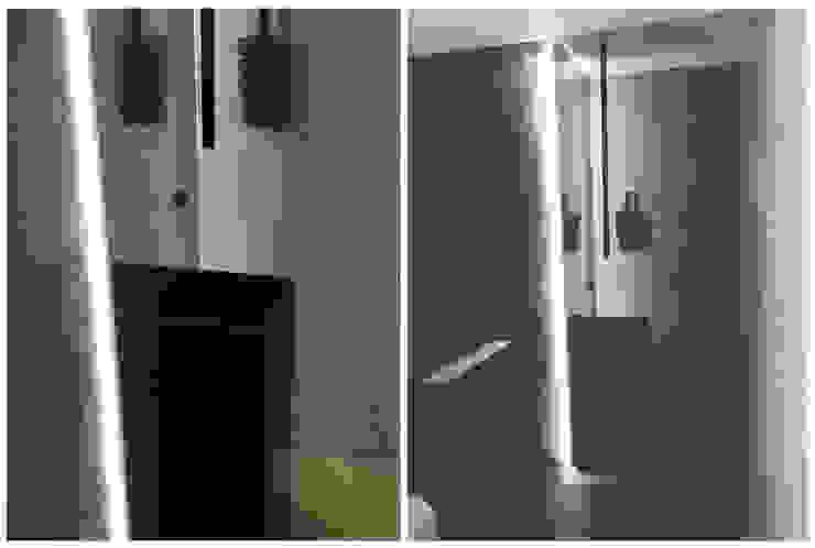 Casa de banho social sóbria e masculina Casas de banho modernas por Margarida Bugarim Interiores Moderno