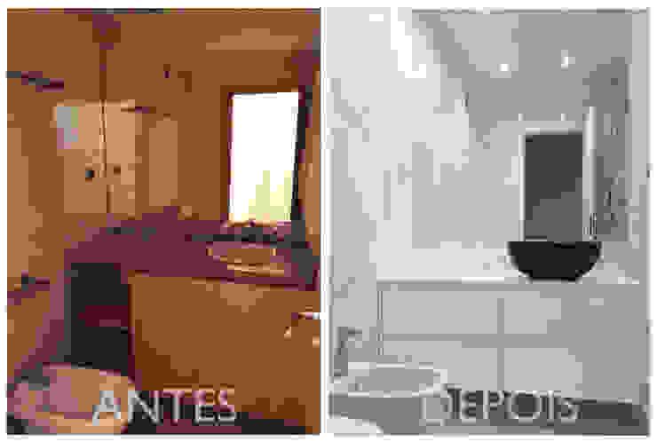 Casa de banho familiar por Margarida Bugarim Interiores Moderno