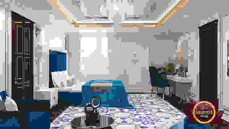 Luxury Blue Bedroom Decoration by Luxury Antonovich Design