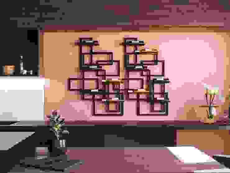 Caos portabottiglie: Cucina in stile  di Damiano Latini srl, Moderno Alluminio / Zinco
