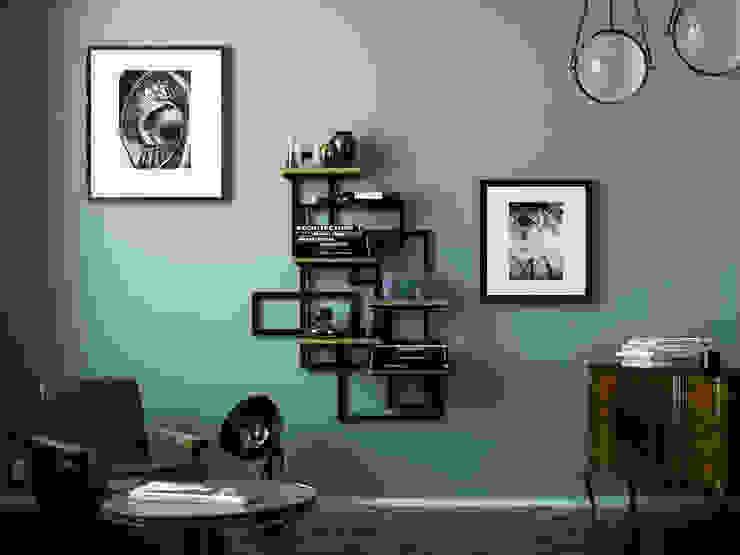 Caos portaoggetti: Soggiorno in stile  di Damiano Latini srl, Moderno Alluminio / Zinco
