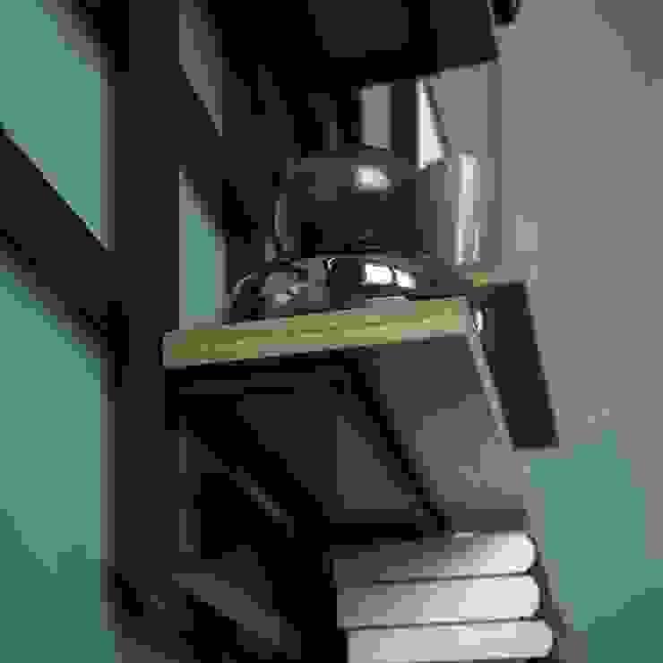 Caos libreria: Soggiorno in stile  di Damiano Latini srl, Moderno Alluminio / Zinco