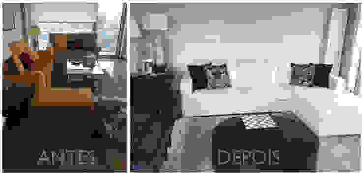 Modernização de harmonia Salas de estar modernas por Margarida Bugarim Interiores Moderno