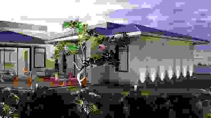 Destaque para a vegetação iluminada por Daniela Ponsoni Arquitetura