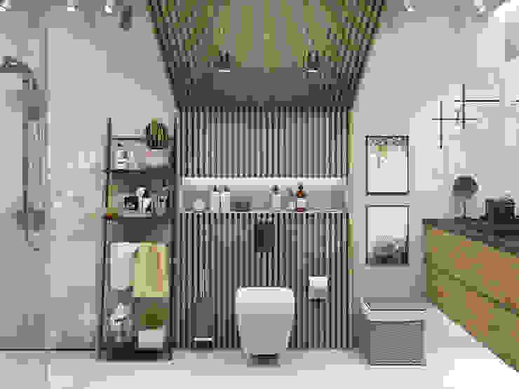 Визуализация санузла в загородном доме Ванная комната в скандинавском стиле от Глинкина Ирина Скандинавский