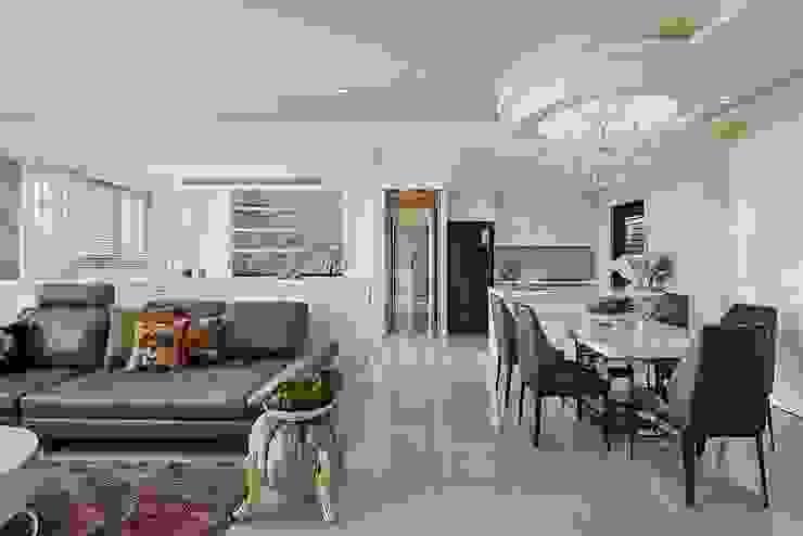 客餐廳x書房x廚房三合一 根據 趙玲室內設計 古典風
