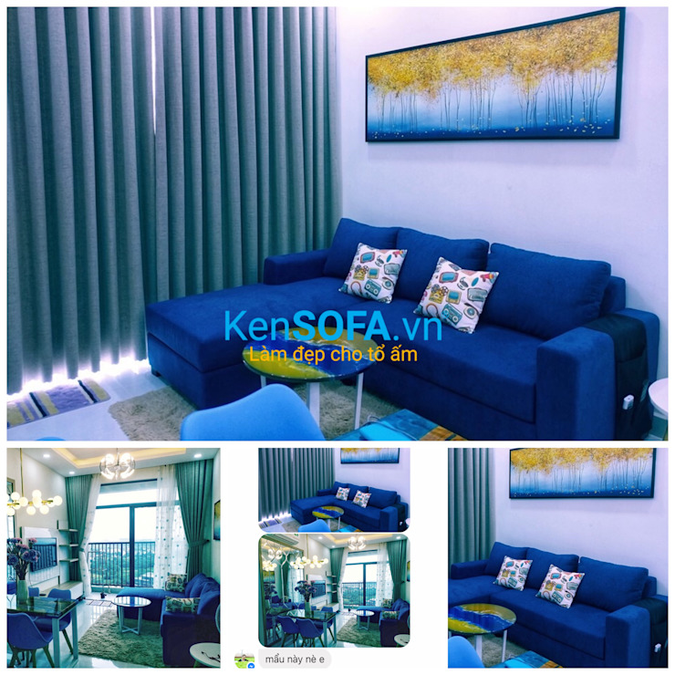 Chị Nga - căn hộ Masteri Quận 2: hiện đại  by KenSOFA.vn, Hiện đại