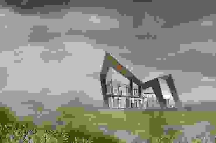 民宿外觀 根據 亚卡默设计 Akuma Design 現代風 水泥