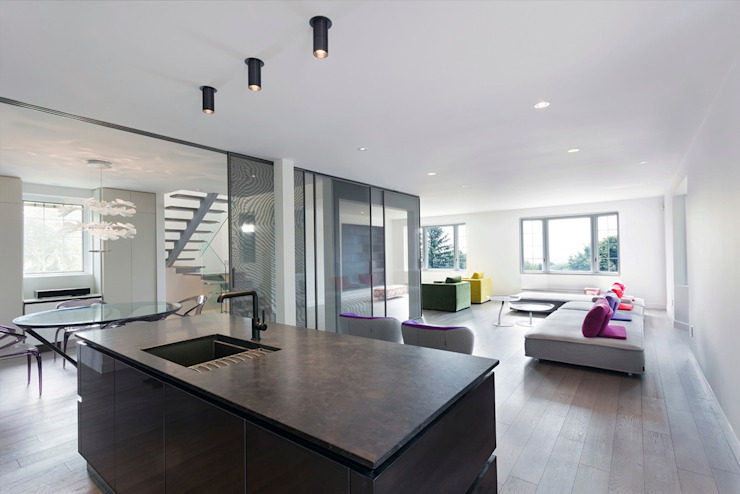 Edgehill Residence Modern Living Room by Zoubeir Azouz Architecture Modern