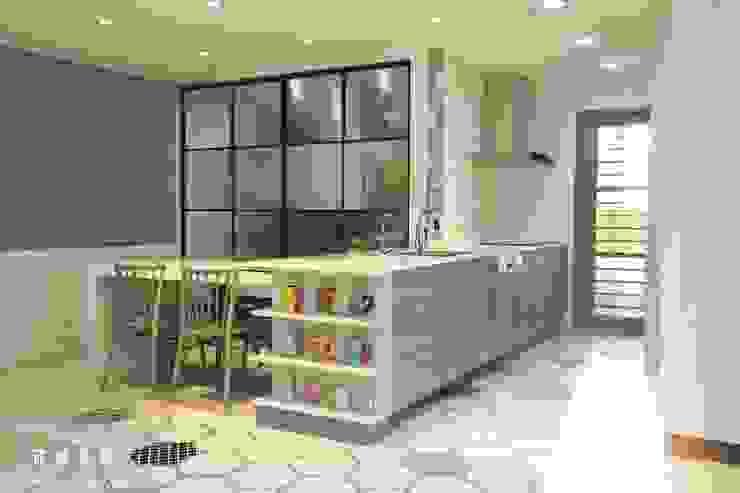 北歐混合美式 整體風格主軸-廚房 根據 匠將室內裝修設計股份有限公司 北歐風