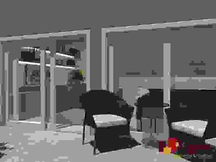 Residência - Planalto Paulista Varandas, alpendres e terraços modernos por LAM Arquitetura   Interiores Moderno