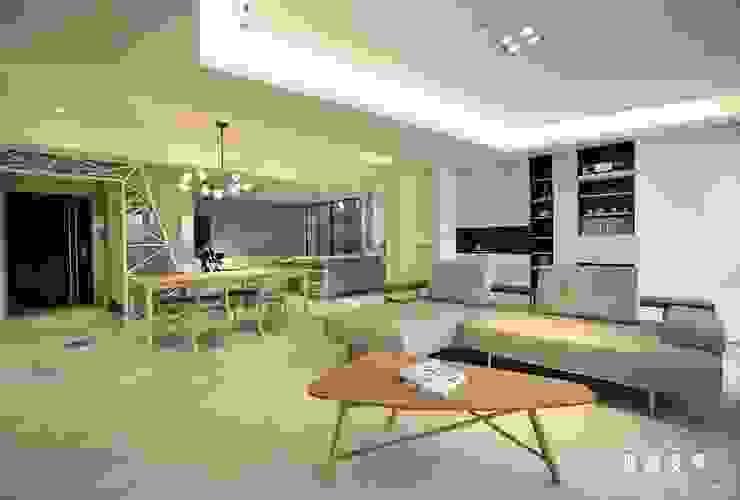北歐混合美式 整體風格主軸-客廳 根據 匠將室內裝修設計股份有限公司 北歐風