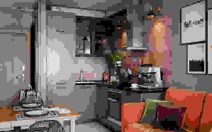 Уютный loft от Студия NATALYA SOLNTSEVA Interiors Design Лофт Изделия из древесины Прозрачный