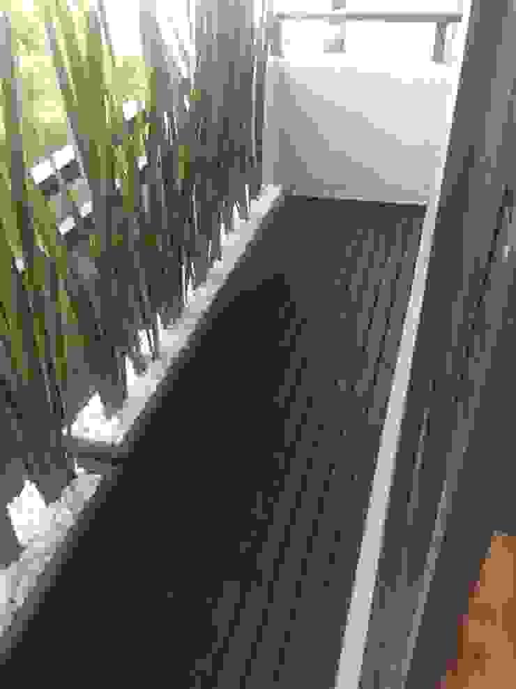 balcon en deck negro y jardineras MAG constructions JardínAccesorios y decoración Madera Negro