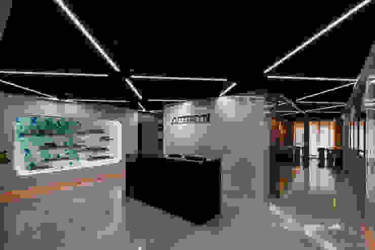 入口櫃台 根據 亚卡默设计 Akuma Design 現代風 水泥