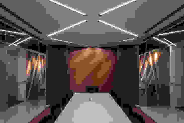 會議接待室 根據 亚卡默设计 Akuma Design 現代風 水泥