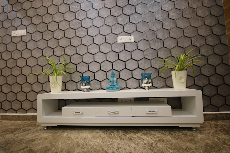 TV Unit in Living Room Modern living room by Enrich Interiors & Decors Modern