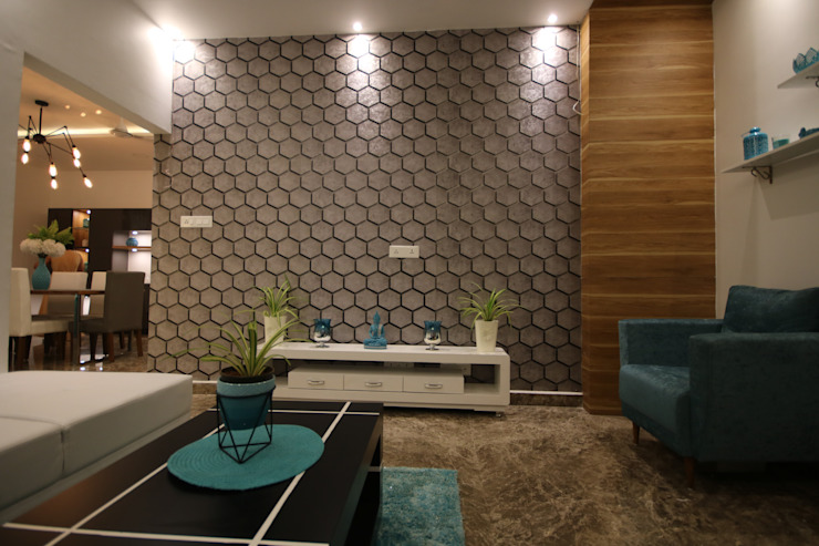 Ambient Mood lighting in Living Room Modern living room by Enrich Interiors & Decors Modern