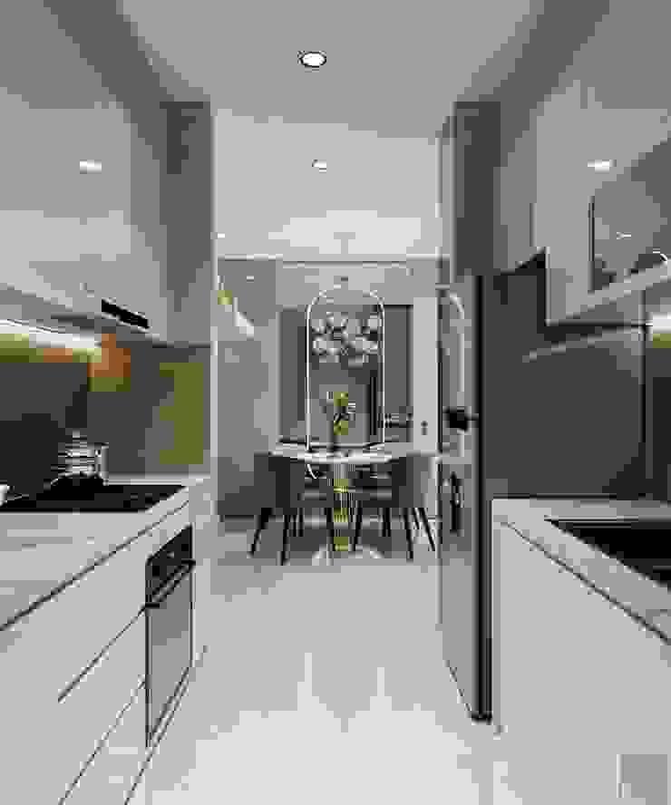 Thiết kế nội thất căn hộ SAIGONMIA - Khoảng trời của riêng tôi Nhà bếp phong cách hiện đại bởi ICON INTERIOR Hiện đại