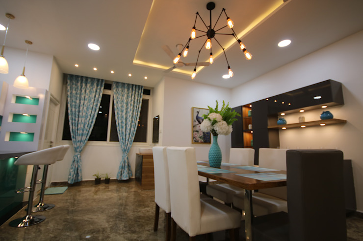 Dining View Modern dining room by Enrich Interiors & Decors Modern
