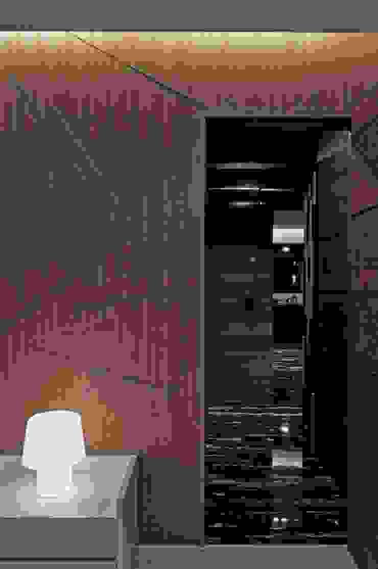 臥室入口處 根據 亚卡默设计 Akuma Design 現代風 木頭 Wood effect