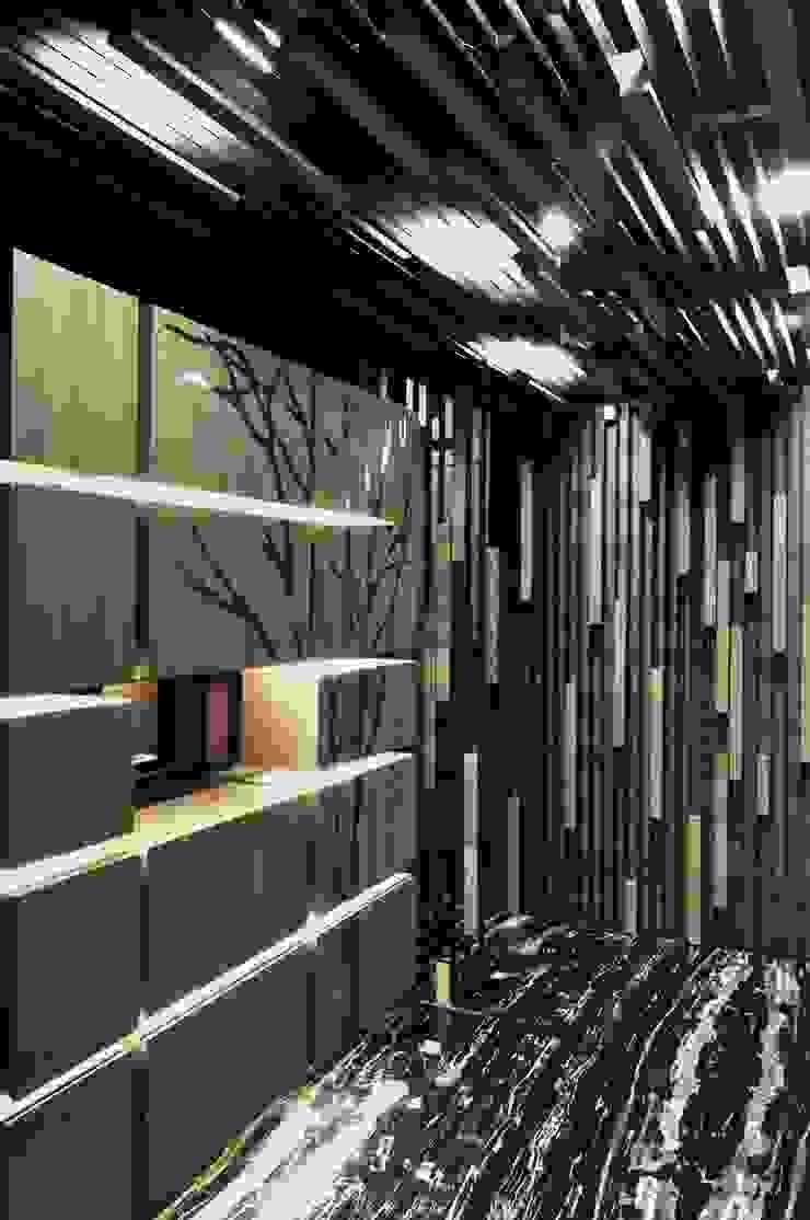 玄關與鞋櫃 現代風玄關、走廊與階梯 根據 亚卡默设计 Akuma Design 現代風 木頭 Wood effect