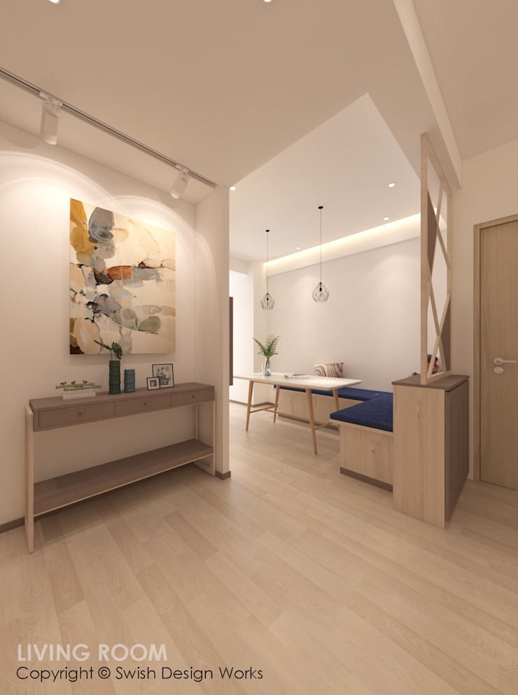 Entrance Modern corridor, hallway & stairs by Swish Design Works Modern Plywood