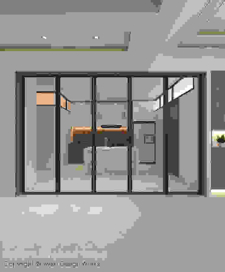 Kitchen partition Swish Design Works Modern kitchen