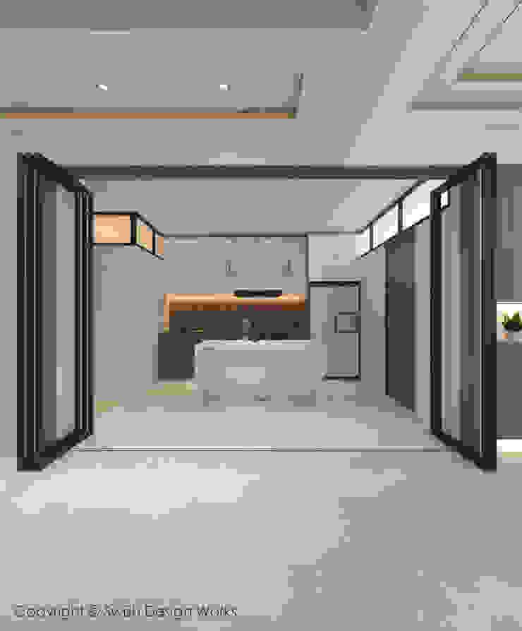 Kitchen partition Swish Design Works Built-in kitchens