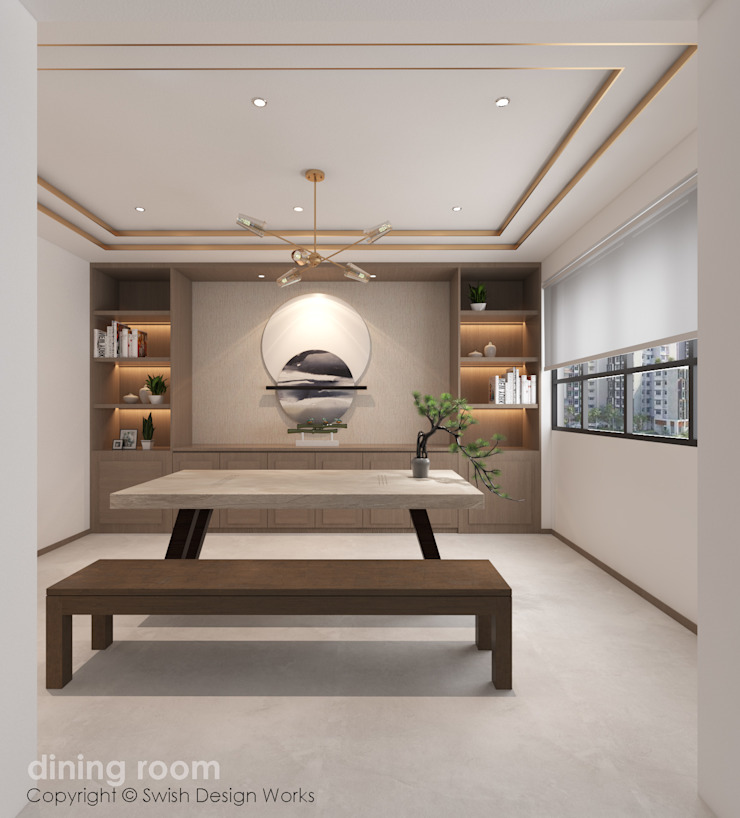 Dining area Modern dining room by Swish Design Works Modern