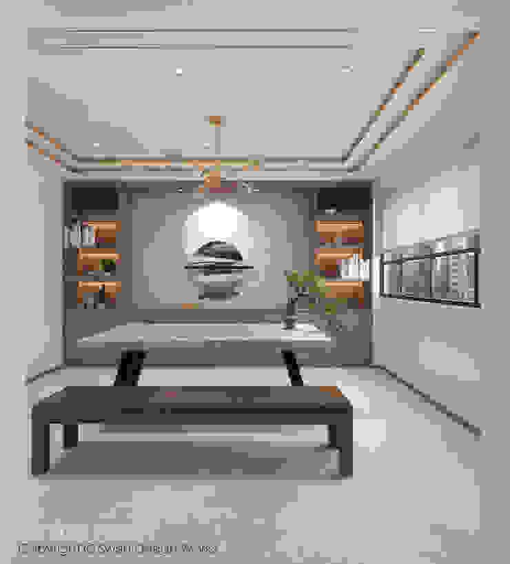 Dining area Swish Design Works Modern dining room Wood effect